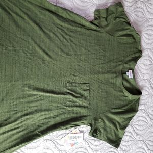LULAROE Carly swing dress olive XL